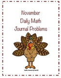 November Daily Math Journal Problems
