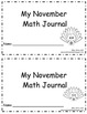 November Daily Math Journal: Second Grade Common Core
