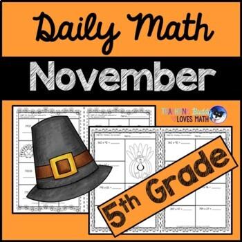 November Daily Math Review 5th Grade Common Core