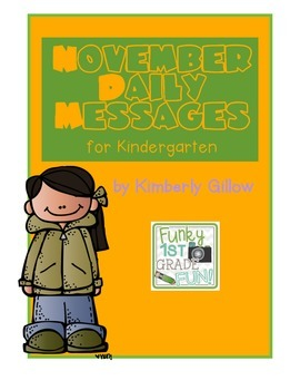 November Daily Messages for Kindergarten
