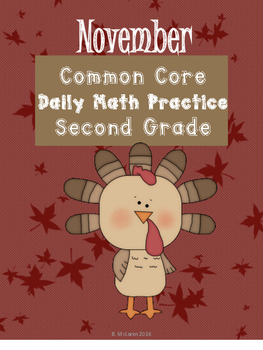 November Daily Math for Second Grade Common Core