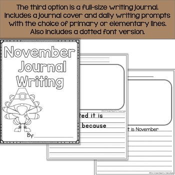 November Daily Quick Writes Writing Journal