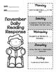 November Daily Reading Response