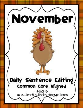 November Daily Sentence Editing
