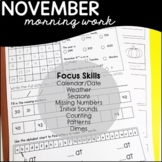November Daily Skills Practice/ Morning Work Special Education