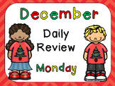 December Daily Review PowerPoints for Kindergarten~ Great for Calendar Time!