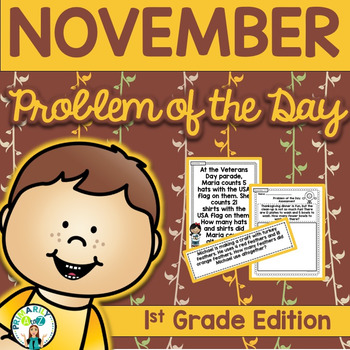 November Daily Word Problems {First Grade}