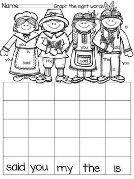 November Daily Work for Kindergarten