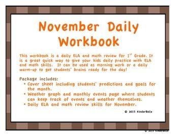 November Daily Morning Work