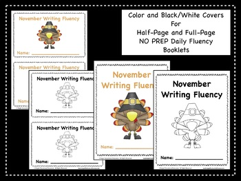November Daily Writing Fluency Prompts - 30 Sentence Starters