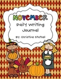 November Daily Writing Journal