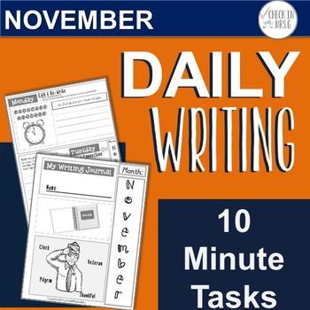 November Daily Writing Tasks