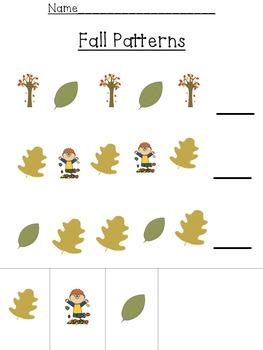 November & December Patterns for Preschoolers and Kindergarteners