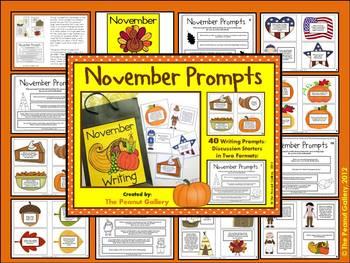 November & December Writing Prompt Bundle (Two Packs in One!)