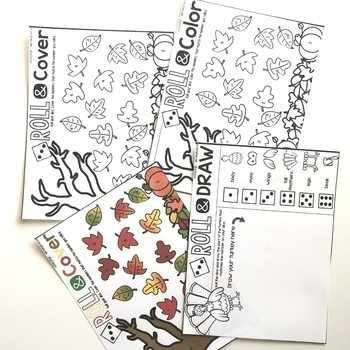 November Dice Games Print and Go