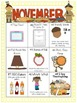 November Differentiated Literacy Center Word Work Menu (Common Core Aligned)