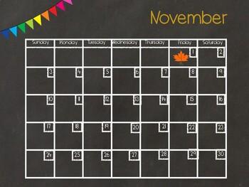 November Digital Calendar