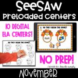 November Digital ELA Centers l SeeSaw Kindergarten Activities