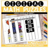 November Digital Math Puzzles