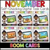 November Digital Task Cards | Boom Cards™ | Distance Learning