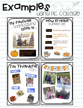 November Digital Templates and Activities!