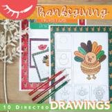 Thanksgiving Art Activities (November Directed Drawings)