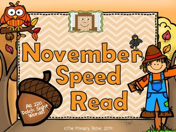 November Dolch Speed Read