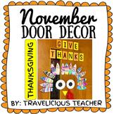 November Door Decorations: Thanksgiving
