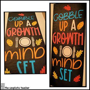 November Door Set: Gobble Up a Growth Mindset