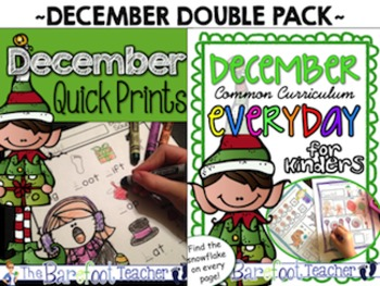 Christmas or Winter Math & Literacy Practice: A December Double Bundle