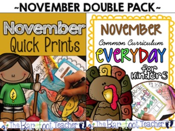 Thanksgiving Activities - November Math & LA Activities - A Double Bundle