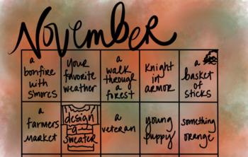 November Drawing Calendar