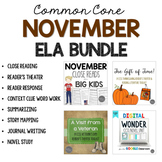 November ELA Bundle Common Core Aligned for Grades 4-6