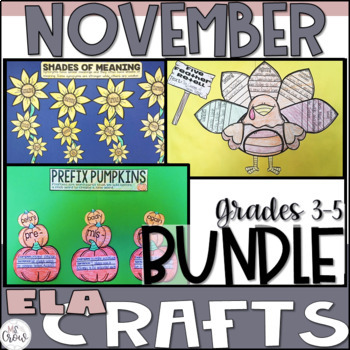 ELA Craftivity Bundle November