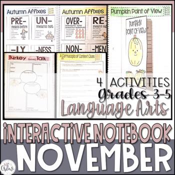 ELA Interactive Notebook November