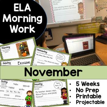 November Morning Work No Prep!