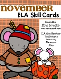 November ELA Skill Cards
