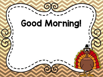 November Editable Morning Message