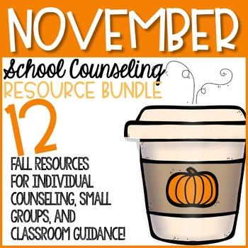 November Elementary School Counseling Resource Bundle