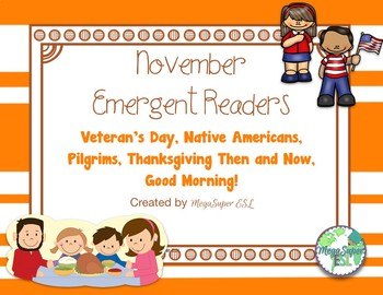 November Emergent Reader Mini-books (five readers)