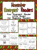 November Emergent Readers - A Book for Each Week- American Symbols, Thanksgiving