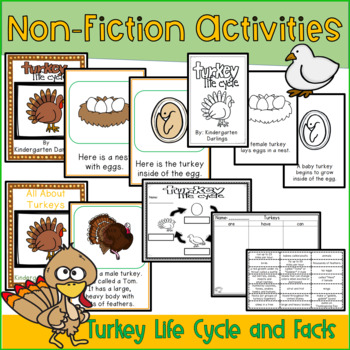 November Emergent Readers, Turkey Non-Fiction, Literacy/Math centers & More
