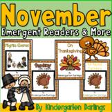 November Emergent Readers, Turkey Non-Fiction, Literacy/Math centers & More