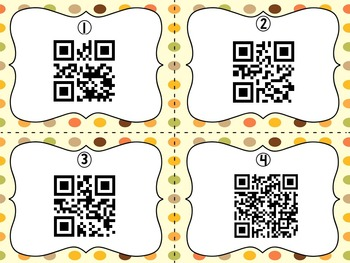 November Encyclopedia Research Task Cards with Self-Checking QR Codes