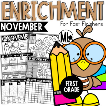 November Enrichment/Early Finishers*First Grade*