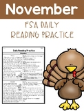 November FSA Daily Reading Packet