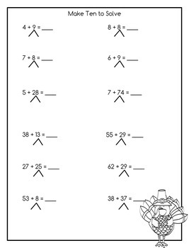 Addition and Subtraction Math Facts Worksheets: November