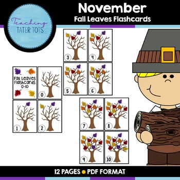 November Fall Leaves Counting Pack