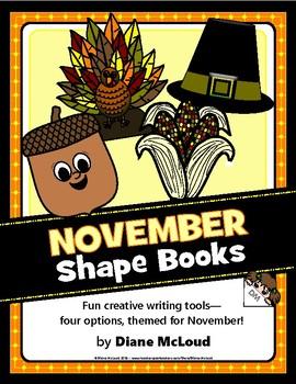 November (Fall) Shape Books for Writing