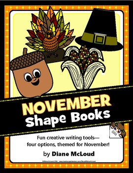 November (Fall) Shape Books for Writing